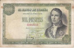 BILLETE DE 1000 PTAS DEL AÑO 1949 DE SANTILLAN (BANKNOTE) - [ 3] 1936-1975: Regime Van Franco