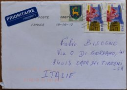 2012 France - La Poste 2.50+0.60 - Used Stamps On Cover To Italy - Marcofilie (Brieven)