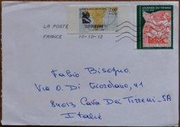 2012 France - Suffren 2.00+0.50 Journee Du Timbre 3.00 - Used Stamps On Cover To Italy - Marcofilie (Brieven)