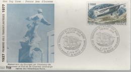 FDC 1er Jour - 4 Juin 1977 - Traversée De L'Atlantique Nord - 1970-1979