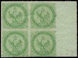 ** COLONIES GENERALES - Poste - 2, Bloc De 4 Réimpression, Signé Brun (1 Exemplaire Court En Bas) - France (former Colonies & Protectorates)
