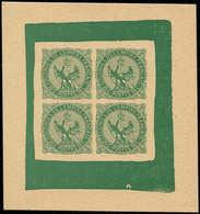 EPA COLONIES GENERALES - Poste - 4, épreuve D'un Bloc De 4 En Vert, (sans Doute D'origine Privée): 20c. Aigle - France (former Colonies & Protectorates)