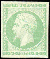 * COLONIES GENERALES - Poste - 8, Bien Margé, Pleine Gomme, Certificat Photo Scheller: 5c. Vert - France (former Colonies & Protectorates)