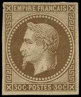 (*) COLONIES GENERALES - Poste - 9, Marges Correctes, Signé Calves: 30c. Brun - France (former Colonies & Protectorates)