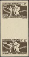 ** COLONIES GENERALES - Poste - 62 + 63, (valeur Non émise 5f +40f), Paire Interpanneau Se Tenant, Non Dentelé, En Gris: - France (former Colonies & Protectorates)