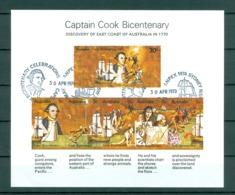 Australia. 1970 Souvenir. Sheet ANPEX 1970 Cancel. Cook Bicentenary 200 Year. - Blocks & Sheetlets