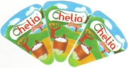 """Algérie - 3 étiquettes De Fromage Fondu """" Chelia"""" . - Cheese"""