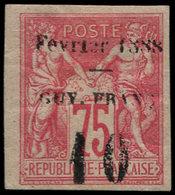 """* GUYANE - Poste - 9, Bel Exemplaire, Avec Gomme, Chiffre """"10"""" Espacé: 10 S. 75 Rose (Maury) - Guyane Française (1886-1949)"""