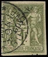 O GUYANE - Poste - 15, Bien Margé, Signé: 1f. Sage - Guyane Française (1886-1949)