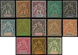 * GUYANE - Poste - 30/42, 13 Valeurs, Complet: Groupe - Guyane Française (1886-1949)
