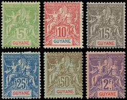 * GUYANE - Poste - 43/48, Complet 6 Valeurs - Guyane Française (1886-1949)