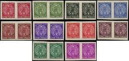 ** GUYANE - Taxe - 22/31, 10 Paires Horizontales, Non Dentelées, Complet: Armoiries (Maury) - Guyane Française (1886-1949)