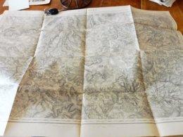Origine 1845, Révisé 1913  Carte Topograph  MIRECOURT Par Officiers De L'Etat Major Et Déposé Au Ministère De La Guerre - Topographical Maps
