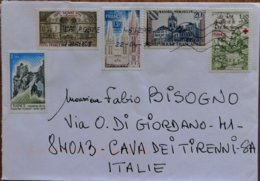 2015 France  - Used Stamps On Cover To Italy - Marcofilie (Brieven)