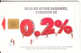MEXICO - Afore Banamex 0,2%, Chip GEM1.2, 07/97, Used - Mexico