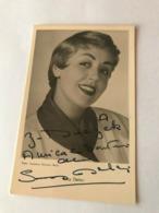 Suzy Delair Acctress Photo Autograph Hand Signed 10x15 Cm - Signed Photographs