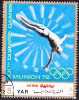 Jemen (YAR **) - Olympiade München Turmspringen (MiNr: 1469) 1971 - Gest Used Obl - Yemen