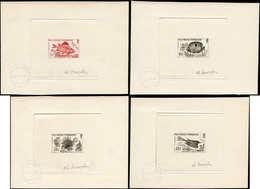 EPA POLYNESIE - Poste - 18 (brun) + 19/21 (noir), Série Complète De 4 épreuves D'artiste, Signées: Poissons - Polynésie Française