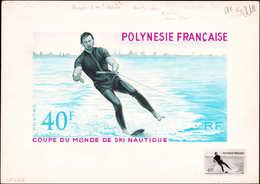 MAQ POLYNESIE - Poste - 88, Maquette Originale (sujet Différent), Gouache & Aquarelle (240 X 135), Signée Bétemps + Rédu - Polynésie Française