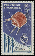 ** POLYNESIE - Poste Aérienne - 10, 50f. UIT, Satellite - Polynésie Française