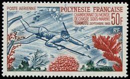** POLYNESIE - Poste Aérienne - 14, 50f. Pêche Sous Marine - Polynésie Française