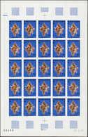 ** POLYNESIE - Poste Aérienne - 114/116, 3 Feuilles Complètes De 25 Non Dentelés, Le 115 Déchirure Sur Bdf: Coquillages  - Polynésie Française