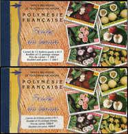 ** POLYNESIE - Carnets - Maury 5/5A, Les 2 Carnets Tourisme 1999, 1200f Et 1020f: Fruits Du Fenua - Polynésie Française