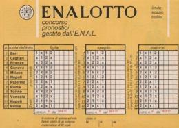 SCHEDINA ENALOTTO - CONCORSO -PRONOSTIC I-GESTITO -DALL -E-N-A-L-  ANNO. 1977 - Vecchi Documenti