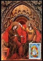 Madonna, Assumption Of Mary,Fresco,Christianity,Religion,Vatican,1988,Maxi Card - Christianity