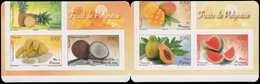 ** POLYNESIE - Carnets - Yvert C 1023, Carnet Complet, Erreur De Découpe (à Cheval Et En Diagonal), Superbe: Fruits - Polynésie Française