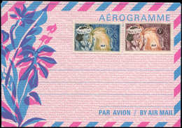 N POLYNESIE - Entiers Postaux - Yvert 2, Aérogramme (+complément 4f): 26f. Bleu/rose 1975 - Polynésie Française