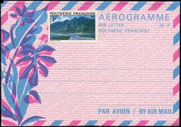 N POLYNESIE - Entiers Postaux - Yvert 2, Aérogramme: 26f. Bleu/rose (+ Complément à 2f.) - Polynésie Française
