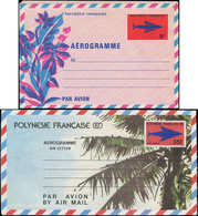 N POLYNESIE - Entiers Postaux - Yvert 3/4, 2 Aérogrammes: 30f. Et 35f. Poisson - Polynésie Française