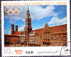 Jemen (YAR **) - Bauwerke Der Olympiastadt München Rathaus (MiNr: 1238) 1970 - Gest Used Obl - Yemen