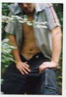 Homme Man Couleur 2003 Boyfriend Sexy Semi Nude Amateur Torse Nu Pose Portrait Love Outdoor Forêt Pantalon Erotic - Personnes Anonymes