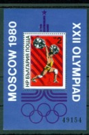 1980 Moscow Olympics,Weight Lifting,Bulgaria,Bl.101,MNH - Summer 1980: Moscow