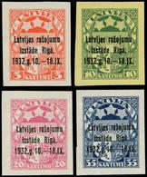 (*) LETTONIE - Poste - 200A/D, Complet, Non Dentelés: Exposition De Riga - Lettland