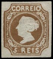 (*) PORTUGAL - Poste - 1, Réimpression, Bel Exemplaire: 5r. Brun - Non Classés