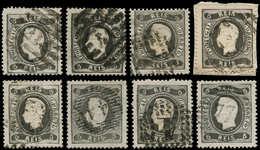 O PORTUGAL - Poste - 26, Lot De 8 Exemplaires: 5r. Noir - Non Classés