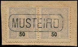 """ESS PORTUGAL - Poste - 133, Non émis En Gris, Paire Dentelée Sur Fragment Annulée """"Musteiro"""": 50r. - Non Classés"""