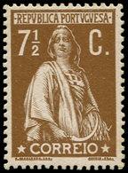 ** PORTUGAL - Poste - 213A, Papier Couché: 7.5c. Bistre Cérès - Non Classés