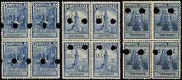 ** PORTUGAL - Poste - 369/71, Blocs De 4 Spécimen Dentelés, (avec Perforation De Contrôle): Pombal - Non Classés