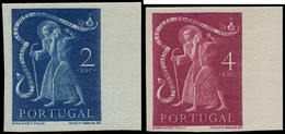 ** PORTUGAL - Poste - 738/39, Non Dentelés, Bdf, Couleur Légèrement Différente Des Dentelés: 2 Et 4e. St Jean De Dieu - Non Classés