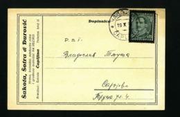 Yugoslavia  Postal Stationari Card ČAPLJINA  1937  VF Used - Bosnia Erzegovina