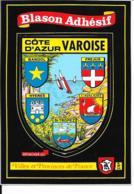 Carte Postale Blason Adhésif Côte D'Azur Varoise - France