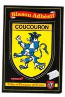 Carte Postale Blason Adhésif Coucouron Ardéche - Autres Communes