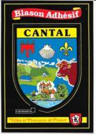 Carte Postale Blason Adhésif Cantal - France