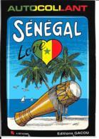 Carte Postale Blason Adhésif Sénégal - Sénégal