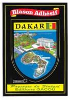 Carte Postale Blason Adhésif Sénégal Dakar - Sénégal
