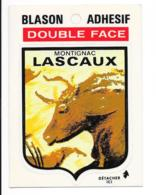 Blason Adhésif Double Face Montignac LASCAUX - Autocollants